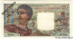 20 Francs TAHITI  1960 P.21cs pr.NEUF