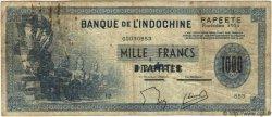 1000 Francs TAHITI  1954 P.22 B à TB