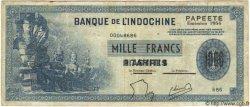 1000 Francs TAHITI  1954 P.22 TTB