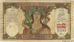 100 Francs TAHITI  1963 P.22A B+