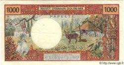 1000 Francs (avec République Française) TAHITI  1971 P.27 TTB+