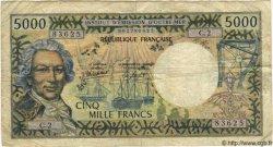 5000 Francs TAHITI  1982 P.28 B+