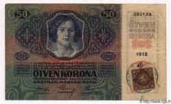 50 Haleru / 50 Korun TCHÉCOSLOVAQUIE  1919 P.003 TTB