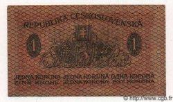 1 Koruna TCHÉCOSLOVAQUIE  1919 P.06a TTB
