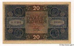 20 Korun TCHÉCOSLOVAQUIE  1919 P.009a TTB+ à SUP