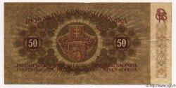 50 Korun TCHÉCOSLOVAQUIE  1919 P.010a TB+