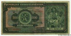 100 Korun TCHÉCOSLOVAQUIE  1920 P.017a TB à TTB