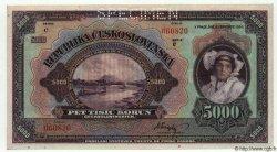 5000 Korun TCHÉCOSLOVAQUIE  1920 P.019s pr.NEUF