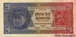 20 Korun TCHÉCOSLOVAQUIE  1926 P.021a TTB