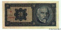 20 Korun TCHÉCOSLOVAQUIE  1926 P.021a SUP+