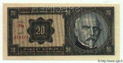 20 Korun TCHÉCOSLOVAQUIE  1926 P.021s pr.NEUF