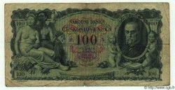100 Korun TCHÉCOSLOVAQUIE  1931 P.023a B à TB