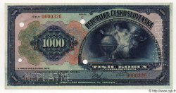 1000 Korun TCHÉCOSLOVAQUIE  1932 P.025s NEUF