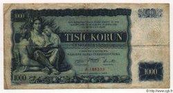 1000 Korun TCHÉCOSLOVAQUIE  1934 P.026a TB