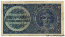 1 Koruna TCHÉCOSLOVAQUIE  1938 P.027 TTB