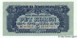5 Korun TCHÉCOSLOVAQUIE  1944 P.046bs