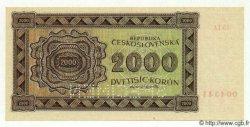 2000 Korun TCHÉCOSLOVAQUIE  1945 P.050As NEUF