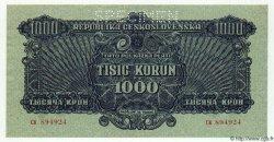 1000 Korun TCHÉCOSLOVAQUIE  1944 P.050s NEUF