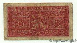 5 Korun TCHÉCOSLOVAQUIE  1945 P.059a TB