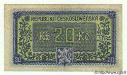 20 Korun TCHÉCOSLOVAQUIE  1945 P.061 TTB+