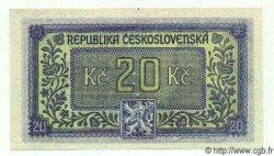 20 Korun TCHÉCOSLOVAQUIE  1945 P.061s NEUF