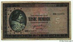 1000 Korun TCHÉCOSLOVAQUIE  1945 P.065s TB