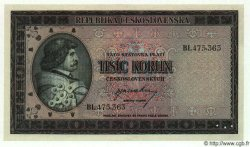 1000 Korun TCHÉCOSLOVAQUIE  1945 P.065s NEUF