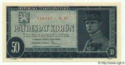 50 Korun TCHÉCOSLOVAQUIE  1948 P.066a pr.NEUF