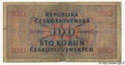 100 Korun TCHÉCOSLOVAQUIE  1945 P.067a B+