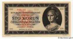 100 Korun TCHÉCOSLOVAQUIE  1945 P.067s NEUF