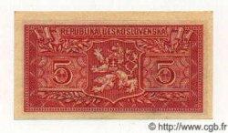 5 Korun TCHÉCOSLOVAQUIE  1949 P.068a SPL