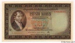 500 Korun TCHÉCOSLOVAQUIE  1946 P.073s NEUF