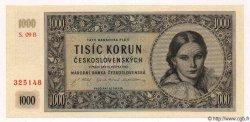 1000 Korun TCHÉCOSLOVAQUIE  1945 P.074a NEUF