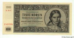 1000 Korun TCHÉCOSLOVAQUIE  1945 P.074c NEUF
