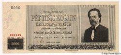 5000 Korun TCHÉCOSLOVAQUIE  1945 P.075a SPL