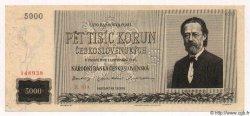 5000 Korun TCHÉCOSLOVAQUIE  1945 P.075s pr.NEUF