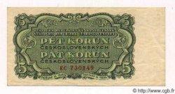 5 Korun TCHÉCOSLOVAQUIE  1953 P.080a TTB+