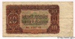 10 Korun TCHÉCOSLOVAQUIE  1953 P.083a pr.TTB