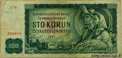 100 Korun TCHÉCOSLOVAQUIE  1961 P.091a B