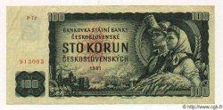 100 Korun TCHÉCOSLOVAQUIE  1961 P.091a TTB+