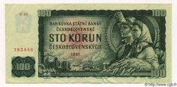 100 Korun TCHÉCOSLOVAQUIE  1961 P.091b SUP