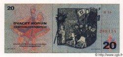 20 Korun TCHÉCOSLOVAQUIE  1970 P.092 TTB+