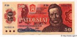 50 Korun TCHÉCOSLOVAQUIE  1987 P.096 SPL