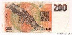 200 Korun RÉPUBLIQUE TCHÈQUE  1993 P.06b TTB+ à SUP