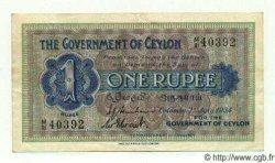 1 Rupee CEYLAN  1934 P.16b TTB+