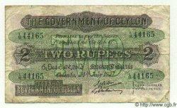 2 Rupees CEYLAN  1937 P.21b TB à TTB