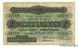 2 Rupees CEYLAN  1939 P.21b TB à TTB