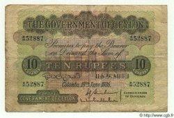 10 Rupees CEYLAN  1936 P.25 TB