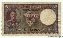 2 Rupees CEYLAN  1945 P.35 TB