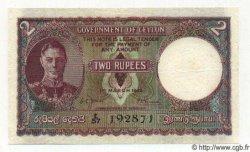 2 Rupees CEYLAN  1949 P.35 TTB+